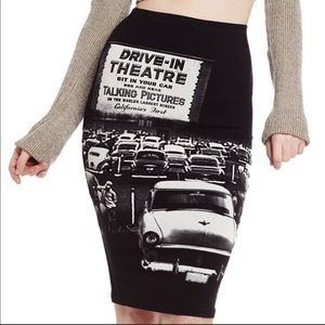 At the Drive In Tube Stretch Wiggle skirt